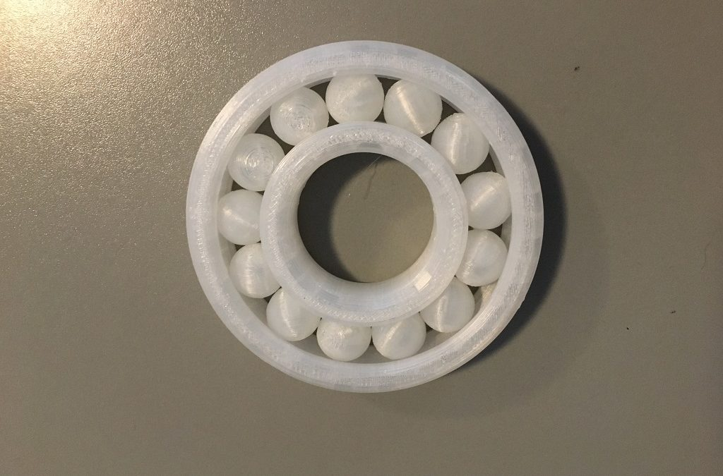 One-Print Ball Bearing